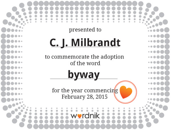 Wordnik - Byway Certificate