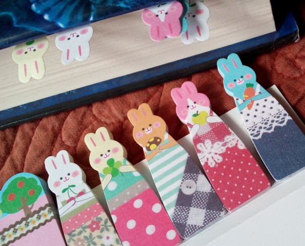Bunny Book Flags